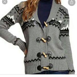 Mountain Cowichan inspired cardigan grey boho